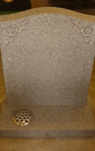 honed granite headstone 2