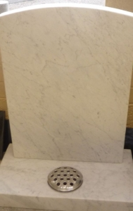 headstones and memorials in marble