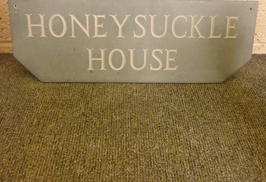 Stone house name plates